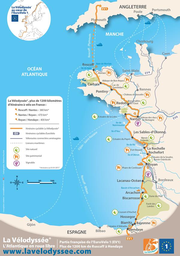 carte de france cote atlantique» Info » Vacances - Guide Voyage