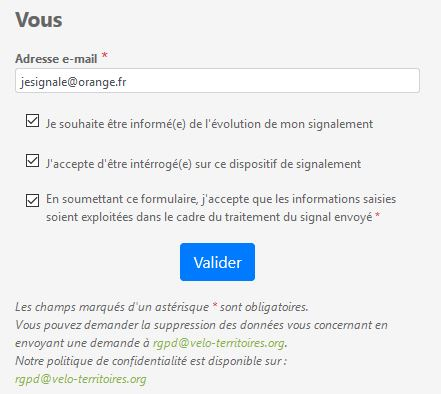 signalement validation